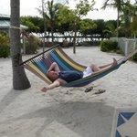 Hubby relaxing!