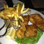 Fish and Chips  (needs bigger fish to much batter)