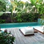 Pool area near the lobby
