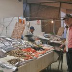 Dan, shopping the Valpraiso fish market - with Cooking Classes Chile