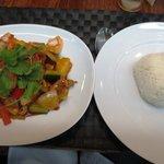 Prawns & rice main