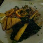 Pacific snapper with chard and polenta
