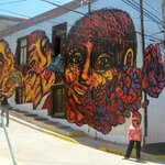 Valparaiso street art murals - with Cooking Classes Chile
