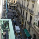 View from our room towards La Rambla