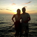 Sunset cruise off tamarindo beach