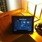 Room controls on iPad.