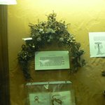 One of several displays made with human hair!