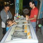 gelato display
