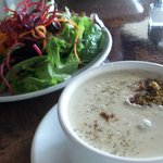 graze salad and cauliflower and sour apple soup,yummy