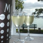 A lovely glass of New Zealand Sauvignon Blanc x 2...