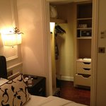 The small dressing room just off the bedroom