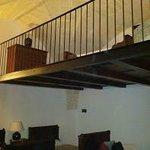 Split level bedroom.
