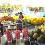Las exquisitas frutas del mercado corona