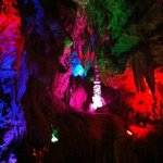Cave room with lights