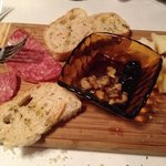 The meat and cheese board. Excellent. Could be served for two people.
