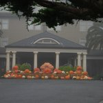Pumpkins at front entry