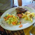 steak chips and vegies
