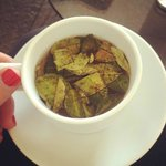 Coca tea at breakfast