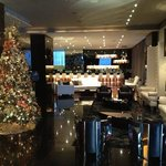 Le Meridien Lobby at Christmas