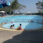 View of pool towards the beach