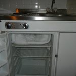 fridge / freezer - whole top shelf is ice