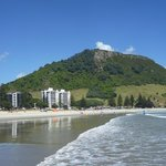 Mt Maunganui from the beach