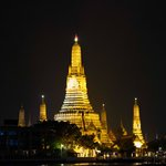View of Wat Arun from the hotel