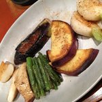 Various vegetables superbly seasoned and seared.