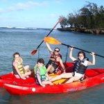 Eco kayak tour with kids.
