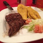 Skirt steak and plantain