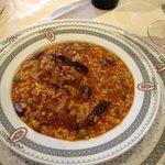 arroz con niscalos. especialidad de la casa.