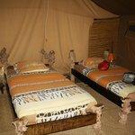 Zelt mit dem Schlafbereich