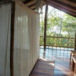 Casa Bambu view through bedroom