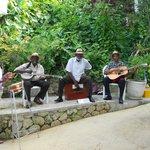 Beach butler, Adrian,and gardener,Mr. Black, join the band