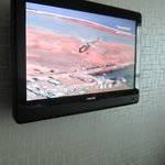 A flat screen TV with good channels