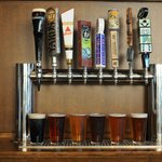 8 Drafts on tap, including Dogfish Head & 16 Mile.