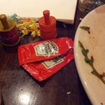 "Ketchup sachets... at a ""contemporary fine dining restaurant""!"