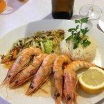 The shrimps!!!! We're excellent