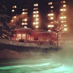 spa in winter