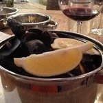 mussels in white wine. Mmmmmm