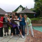Nossa despedida da equipe de trabalho sul-africana