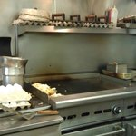 The grill all ready for our order - September 8, 2012