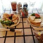 bakery lunch- turkey goat cheese panini