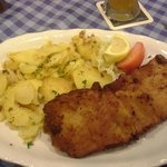 Schnitzel Muenchener Art with potato salad