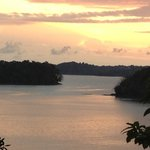 Sunset from high point on island looking at Golgi de Chiriqui