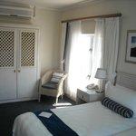 Closets and second corner windows-room 208