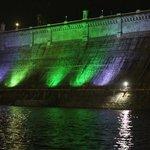 KRS Dam at night