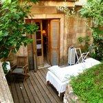 Our garden terrace room