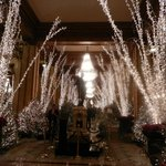 Christmas decorations at The Roosevelt New Orleans