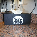 Cowboys tissue holder
